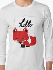 The Fox Says Hello Long Sleeve T-Shirt