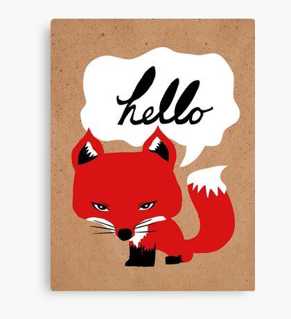 The Fox Says Hello Canvas Print