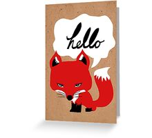 The Fox Says Hello Greeting Card