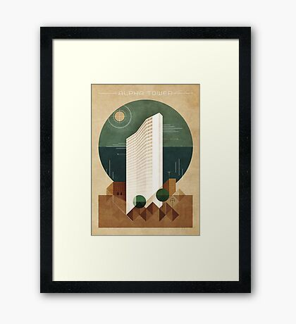 Alpha Tower Framed Print
