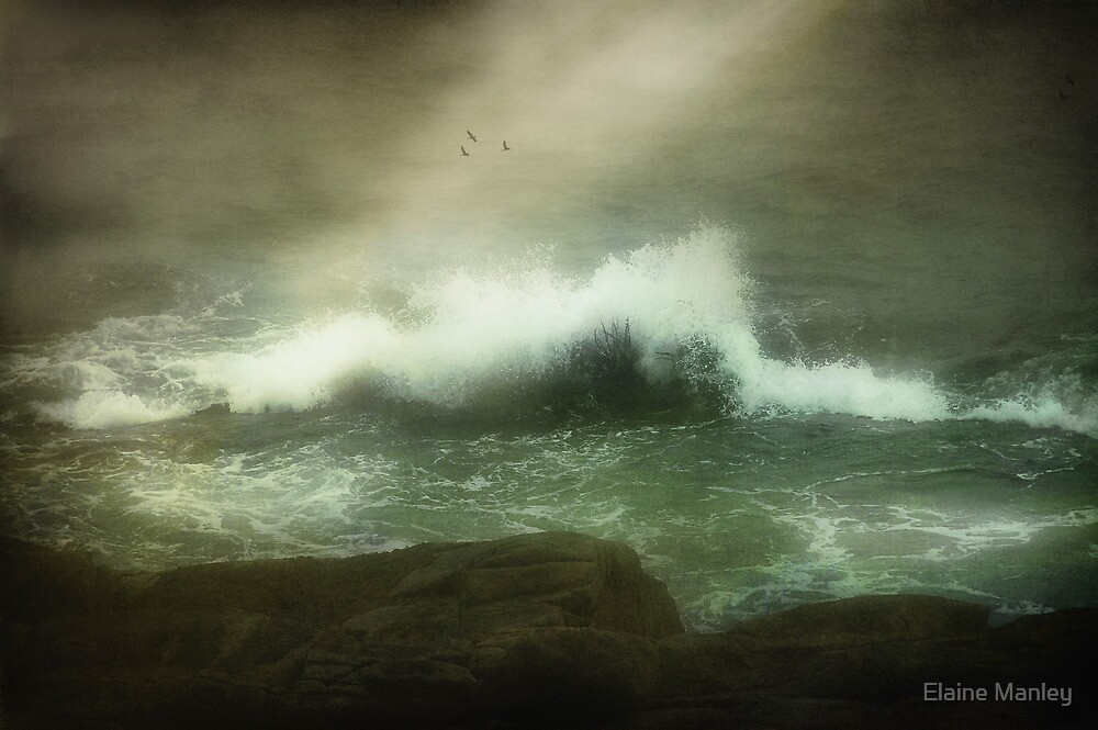 Stormy Seas  by Elaine  Manley