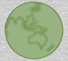 globe in green One Piece - Long Sleeve