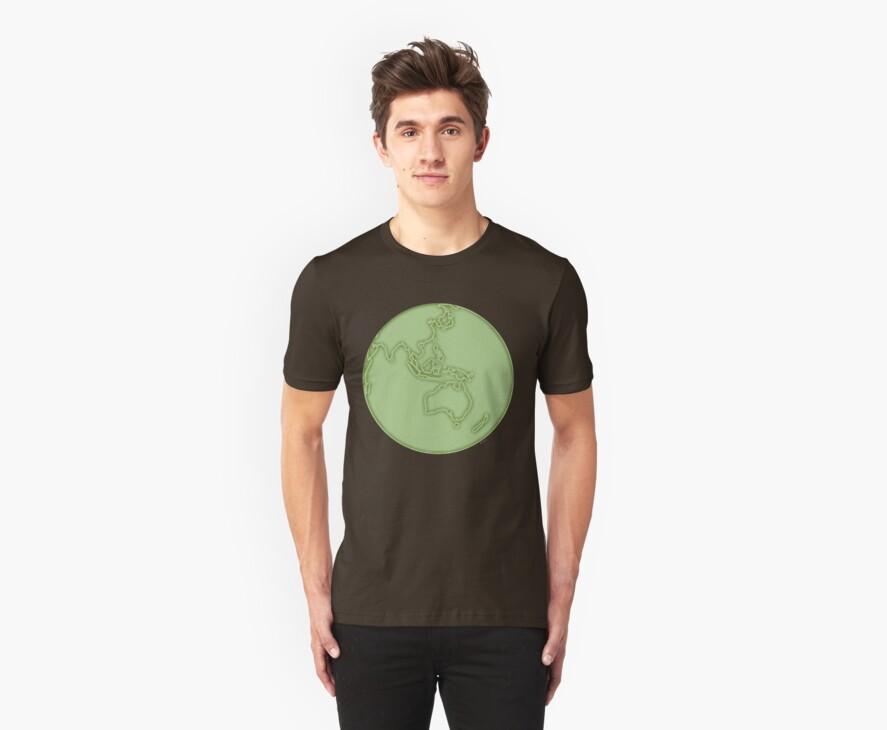 globe in green by offpeaktraveler