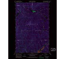 USGS Topo Map Washington State WA Aladdin Mtn 239768 1967 24000 Inverted Photographic Print