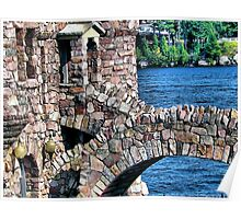 Boldt Castle Power House Close Up, Thousand Islands, NY Poster