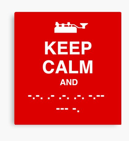 Keep Calm and Carry On - Morse Code T Shirt Canvas Print