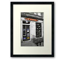 Mr Purves Framed Print