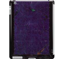 USGS Topo Map Washington State WA Aladdin Mtn 239768 1967 24000 Inverted iPad Case/Skin