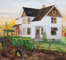 Spring Plowing Coffee Break by Jack G Brauer