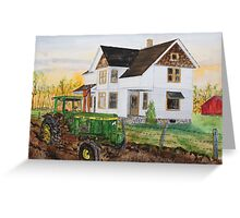 Spring Plowing Coffee Break Greeting Card