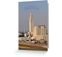 Downtown Baton Rouge Louisiana Greeting Card