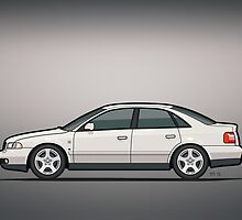 Audi A4 Quattro B5 Sedan White by Tom Mayer