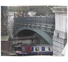 Regents Park Canal Bridge -(190212)- digital photo Poster