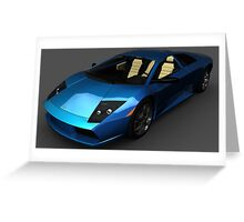 Lamborghini Murciélago 40th aniversary edition Front  Greeting Card