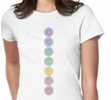 seven chakras Womens Fitted T-Shirt