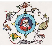 Fisherman Santa Seafood Fish Nautical Cathy Peek Photographic Print