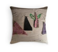 WILD WEST PANTS PARTY *NATIVE PEOPLES* 2 teepee's & cactus Throw Pillow
