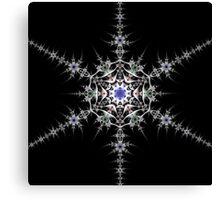 Pewter Snowflake Canvas Print