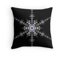 Pewter Snowflake Throw Pillow