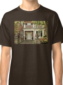 Red Brick House in Autumn Classic T-Shirt
