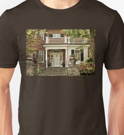 Red Brick House in Autumn Unisex T-Shirt