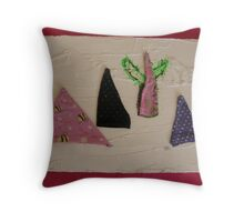 WILD WEST PANTS PARTY *NATIVE PEOPLES* 5 in the pink Throw Pillow