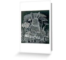 Spring Bunnies  Greeting Card