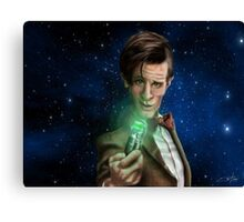 11th Doctor Caricature  Canvas Print