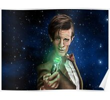 11th Doctor Caricature  Poster