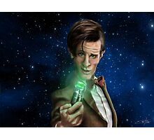 11th Doctor Caricature  Photographic Print