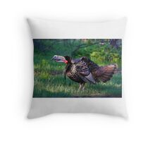 Wild Turkey Call Throw Pillow