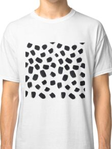 Hand Painted Brush Polka Dot Texture Classic T-Shirt