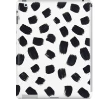 Hand Painted Brush Polka Dot Texture iPad Case/Skin