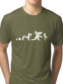 The Evolution of Monsters 1 (Dark Version) Tri-blend T-Shirt