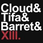 cloud&tifa&barret&xiii by 1up Apparel
