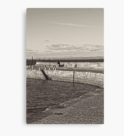 Fishing at the Harbour  Canvas Print