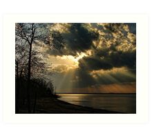 Springtime Rays Art Print