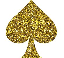 Glitter Spade by sarahvillella
