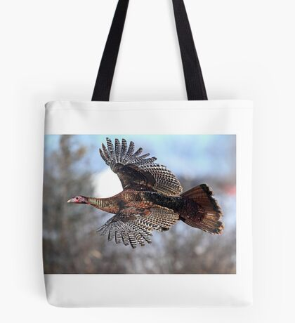Turkey Flying - Wild Turkey Tote Bag