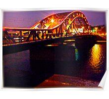 Piłsudski Bridge . Kraków. Poland . made in Brown Sugar. Fujifilm  FinePix AV200 . Featured The New Fuji Fine. Views 83 Poster