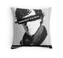 #believeinsherlock Propaganda  Throw Pillow