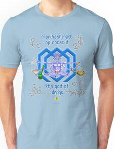 Marihashmeth Opicocacid - the god of drugs  Unisex T-Shirt