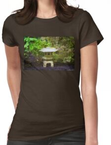 Japanese Garden Lantern Womens Fitted T-Shirt