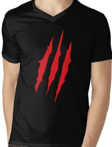 Wolverine Claw Marks Mens V-Neck T-Shirt