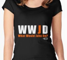 The 100 - What Would Jaha Do? Women's Fitted Scoop T-Shirt