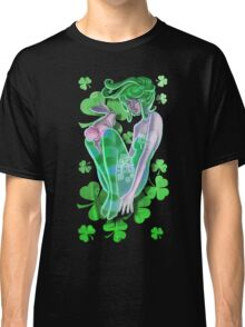 Irish Pinup Lady with a Bunny T-shirt Classic T-Shirt