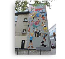 Cartoon character mural, Antwerp, Belgium. Canvas Print