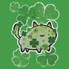 Green Clover Cat by SaradaBoru