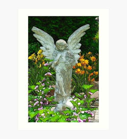 An Angel for Mom Art Print