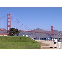 Crissy Field and Golden Gate Bridge Photographic Print